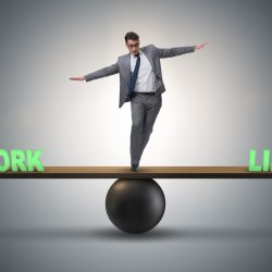 Bigstock  124034422 Businessman Balancing Between Work And Life In Business Concept